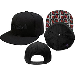 Black Sabbath Men's Snapback Cap: Logo & Demon