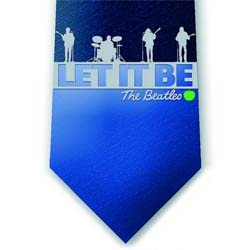 The Beatles Men's Silk Neck Tie: Let It Be Band