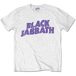 Black Sabbath Men's Tee: Wavy Logo Vintage (Retail Pack)