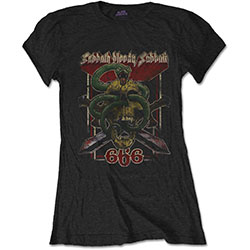 Black Sabbath Ladies Tee: Bloody Sabbath 666