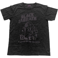 Black Sabbath Unisex Fashion Tee: Symptom of the Universe (Vintage Finish)