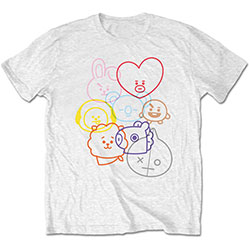 BT21 Unisex Tee: Faces