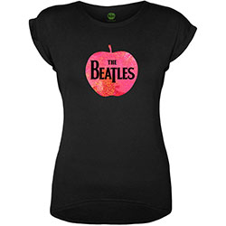 The Beatles Ladies Fashion Tee: Apple (Foiled Application)