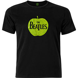 The Beatles Unisex Fashion Tee: Apple with Sparkle Gel Application