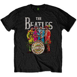 The Beatles Unisex Tee: Sgt Pepper (Retail Pack)