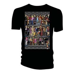 Doctor Who Unisex Tee: All Doctors & Companions Colour