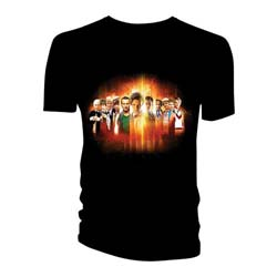 Doctor Who Unisex Tee: All Doctors Regeneration Montage
