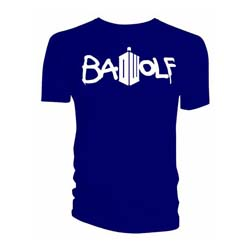 Doctor Who Unisex Tee: Bad Wolf (Small Only)