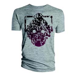 Doctor Who Unisex Tee: Cyberman Faces Head (XX-Large Only)