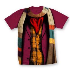 Doctor Who Unisex Tee: 4th Doctor Costume (XX-Large Only)