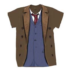 Doctor Who Ladies Tee: 10th Doctor Costume
