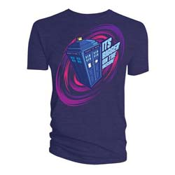 Doctor Who Unisex Tee: Comic Tardis Bigger on the Inside