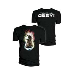 Doctor Who Unisex Tee: Dalek You Will Obey! (Small Only)