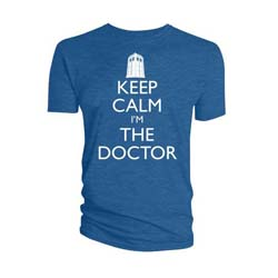 Doctor Who Unisex Tee: Keep Calm I'm The Doctor