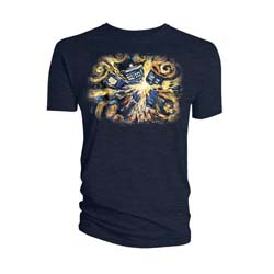 Doctor Who Ladies Tee: Van Gogh Exploding Tardis (X-Large Only)