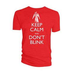 Doctor Who Unisex Tee: Keep Calm Don't Blink Weeping Angel