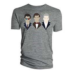 Doctor Who Ladies Tee: 10th 11th 12th Vector Line Up