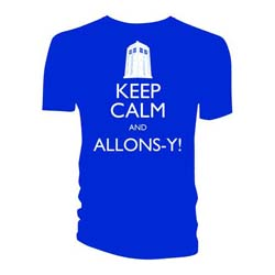 Doctor Who Unisex Tee: Keep Calm and Allons-Y