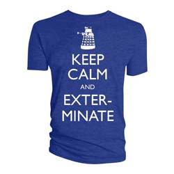 Doctor Who Unisex Tee: Keep Calm & Exterminate
