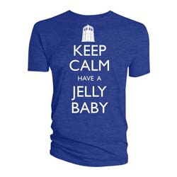 Doctor Who Unisex Tee: Keep Calm Have A Jelly Baby (XX-Large Only)