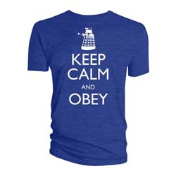Doctor Who Unisex Tee: Keep Calm & Obey