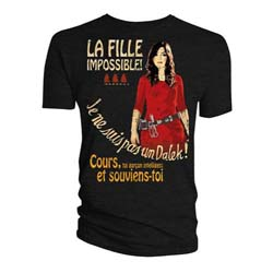 Doctor Who Ladies Tee: La Fille Impossible