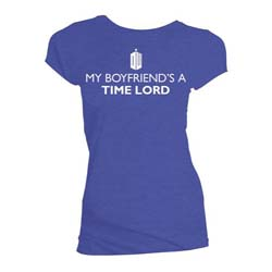 Doctor Who Ladies Tee: My Boyfriend's a Time Lord