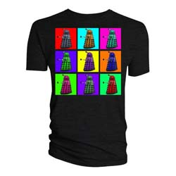 Doctor Who Unisex Tee: Dalek Psychedelic Squares