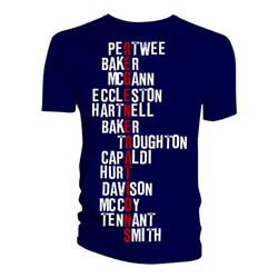 Doctor Who Men's Tee: Regeneration Names