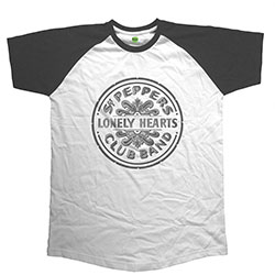 The Beatles Men's Raglan Tee: Sgt Pepper Drum