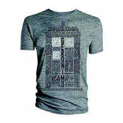 Doctor Who Men's Tee: Tardis Quotes