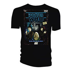Doctor Who Men's Tee: Retro VHS Cover 10th Doctor Colour Graded