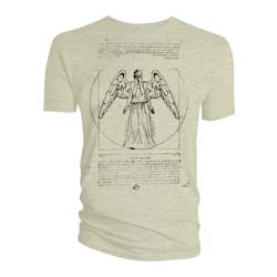 Doctor Who Ladies Tee: Vitruvian Weeping Angel
