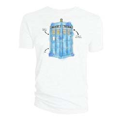 Doctor Who Men's Tee: Tardis Watercolour