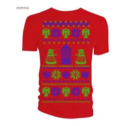 Doctor Who Men's Tee: Ugly Xmas Sweater