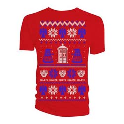 Doctor Who Ladies Tee: Ugly Xmas Sweater