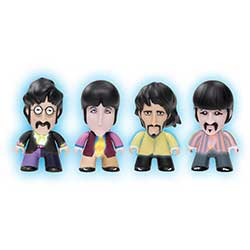 "The Beatles TITANS: Yellow Submarine Glow-in-the-dark Fab Four Pack (3"")"