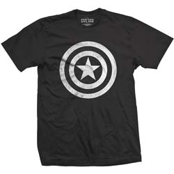 Marvel Comics Unisex Tee: Captain America Civil War Basic Shield Distressed