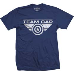 Marvel Comics Men's Tee: Captain America Team Cap Logo