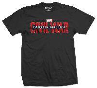 Marvel Comics Unisex Tee: Captain America Civil War Movie Logo
