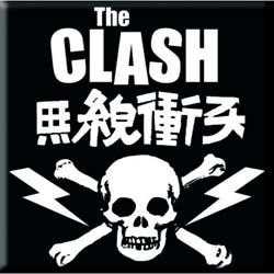 The Clash Fridge Magnet: Skull & Crossbones
