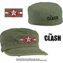 The Clash Men's Military Style Hat: Star Logo