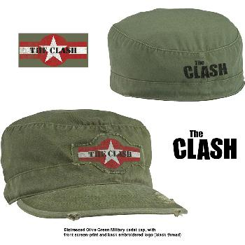 The Clash Unisex Military Cap: Star Logo (Distressed)