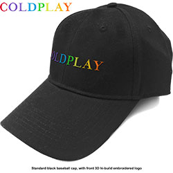 Coldplay Unisex Baseball Cap: Rainbow Logo
