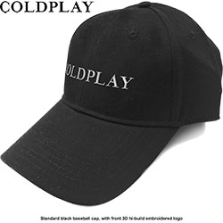Coldplay Unisex Baseball Cap: White Logo