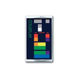Coldplay Pin Badge: X & Y Album