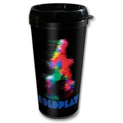 Coldplay Travel Mug: Fuzzy Man (Plastic Body)