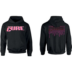 The Cure Unisex Pullover Hoodie: Neon Logo (Ex-Tour/Back Print)