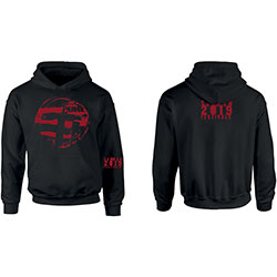 The Cure Unisex Pullover Hoodie: Eastern Red Logo (Ex-Tour/Back Print)