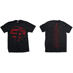 The Cure Unisex Tee: Eastern Red Logo (Ex-Tour/Back Print)